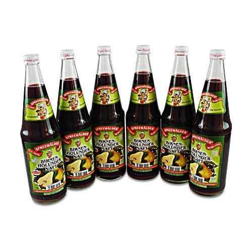 flaschen verschicken Birnen-Holunder-Direktsaft von der Spreewaldmosterei 6er Pack (6 Flaschen à 0.7 l)
