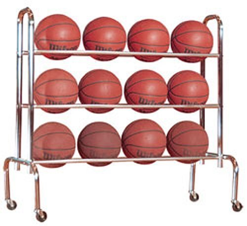 Basketball Storage Rack (First Team Economy 12 Basketball Carrier Storage Rack by First Team)