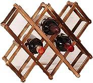 Classical Folding Wine Racks Fashion Solid Wood Drink Bottle Holder Unique Kitchen Bar Display Shelf Creative Gift Crafts