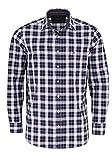 CASAMODA Comfort Fit Hemd Langarm New Kent Kragen Karo schwarz Größe XXXL