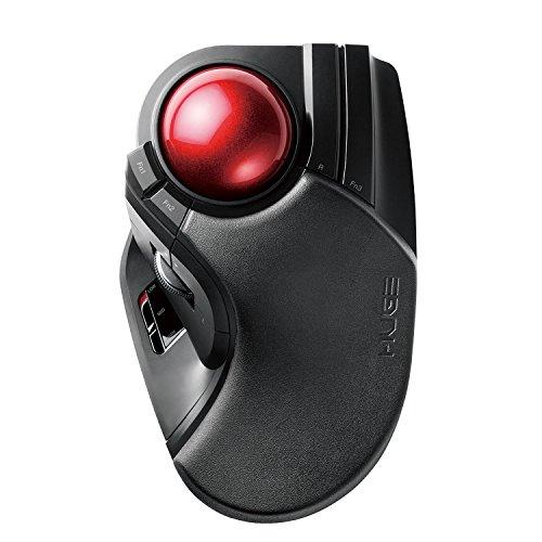 Elecom trackball mouse Wireless 8 button Big ball M-HT1DRXBK (Trackball Ball)
