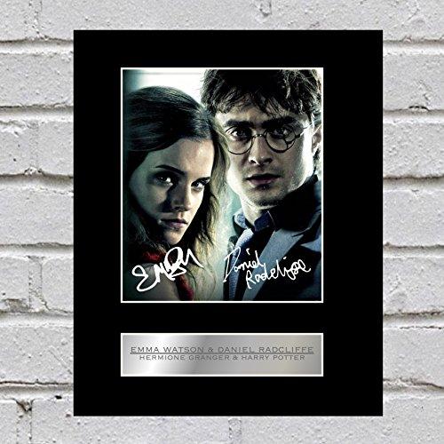 Emma Watson y Daniel Radcliffe firmado foto enmarcada Hermione Granger Harry Potter