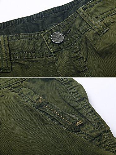 OCHENTA - Cotone Pantaloncini - Basic Cargo- Uomo Vede militare