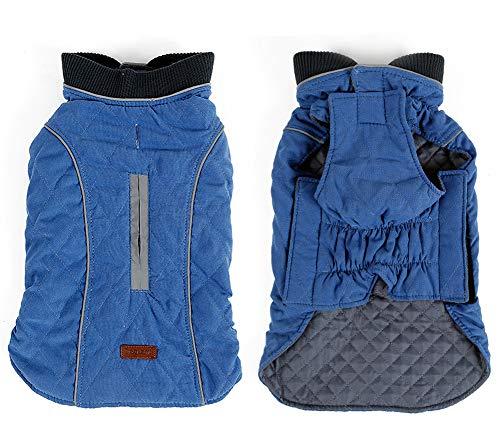 PENIVO 6 Farben Haustier Jacke Hundebekleidung Wasserabweisend Winter Warme Kleidung Weste Reversible Winterjacken Mäntel für Kleine Mittelgroße Hund (XS, Blau)