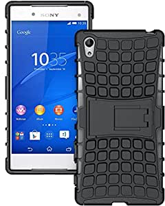 SWAN Flip Kick Stand Spider Hard Dual Rugged Armor Hybrid Bumper Back Case Cover for Sony Xperia Z5 Premium Dual - With Hybrid Kickstand