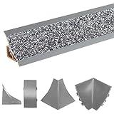 HOLZBRINK Verbinder passend zum Dekor Ihrer Abschlussleisten Granit dunkel Verbindungsstück PVC Küchenabschlussleiste 23x23 mm