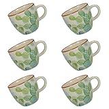 creative tops 5233488Drift cactus tazze (set da 6) tazze da espresso, verde/bianco