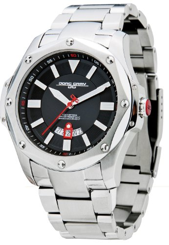 Jorg Gray Men's Swiss Movement Quartz Watch JG9100-21 with Solid Stainless Steel Bracelet and Safety Clasp