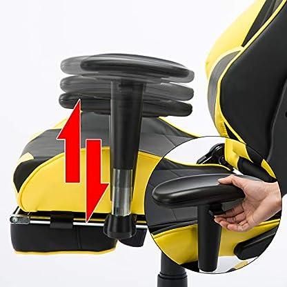 WOLTU Racing Silla, Gaming Silla de Escritorio Silla Oficina Silla de Ordenador Silla giratoria de Oficina Ajustable Silla Azul BS14bl