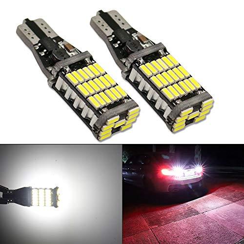 HSUN 921 T15 T16 912 W16W LED Ampoules,45W haute puissance 45LED SMD4014 extrêmement lumineux avec Canbus Error Free pour éclairage LED de voiture, lampe de recul, paquet de 2, blanc pur 6000K