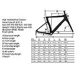 Carbon Rennrad,SAVADECK Phantom3.0 700C Rennrad Kohlefaser Rennräder Fahrrad Shimano Ultegra 8000 22 Speed Group Set mit Michelin 700C*25C Reifen und Fizik Sattel (56cm, Grau) - 3