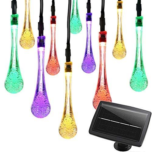 HLLPG Halloween Farbe Lichter Solarbetriebene Regentropfen String Fairy Lights Wasserdichte...
