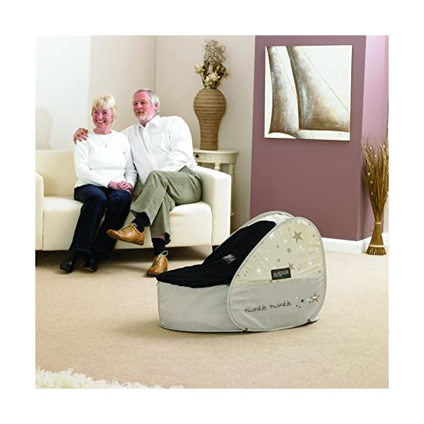 Koo-di 80 x 50 x 58 cm Sun and Sleep Pop Up Travel Bassinette  A comfortable bassinette ideal for use at home and on holidays or weekends away A polycotton travel bassinette Ideal up to 6 months or until baby can sit unaided 3