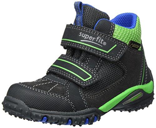 Superfit Jungen SPORT4 Hohe Sneaker, Schwarz (Charcoal Multi), 35 EU
