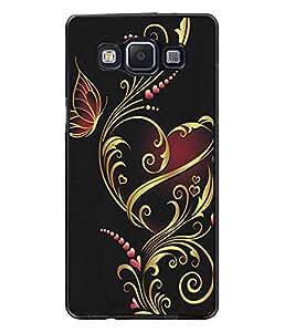 PrintDhaba Floral Design D-5314 Back Case Cover for SAMSUNG GALAXY E5 (Multi-Coloured)