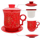 Best MODA & Store regali per gli amanti - Hollihi porcellana tazza da tè con coperchio e Review