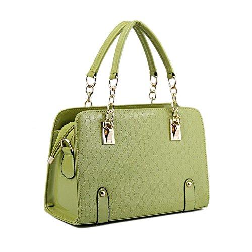 Beatayang Damen Elegant Schultertasche Handtasche Grün
