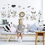 Suuyar Cartoon Tier Wandaufkleber Schafe Pferd Affe Löwe Kaninchen Rotwild Konzert Kinderzimmer Aufkleber Dekoration Wandaufkleber