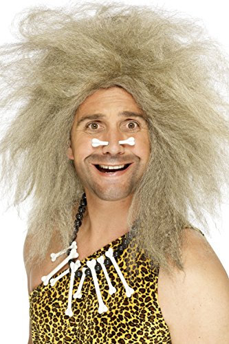y Höhlenmensch Perücke, One Size, Blond, 42080 (Halloween Crazy Hair Day)