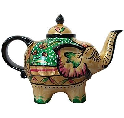 Éléphant-verseuse design : noir-théière en porcelaine avec couvercle 0,8
