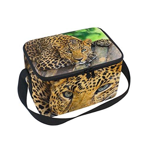 e mit Leopardenmuster, wiederverwendbar, für Outdoor-Reisen, Picknick-Taschen ()