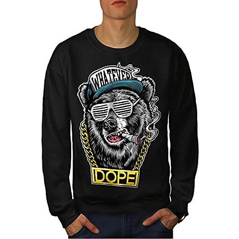 Chain Swag Bear Fashion Men L Sweatshirt | Wellcoda
