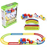 My First Preschool Train Railroad Track Musical Beginner Set With 3 Horses Educational Building Toys
