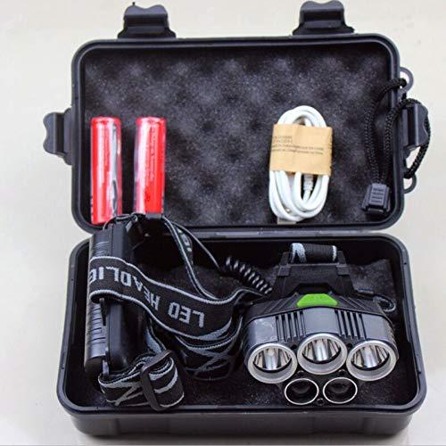Faro delantero LED 25000 lúmenes 5/7/9 LED Cree Xml T6 Q5 USB 18650 linterna frontal de batería