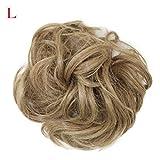Cosplay Perücke, LHWY Frauen Curly Messy Bun Hair Twirl Stück Scrunchie Haarschmuck Perücken Extensions Friseur (L)