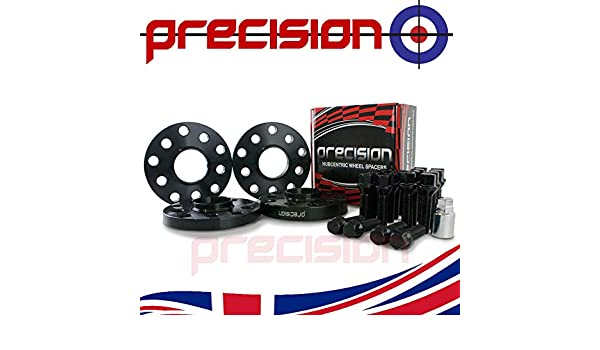 Black Wheel Spacers 15//20mm with Bolts and Locks for Aftermarket Śkoda Roomster Alloys PN.PSP2B155