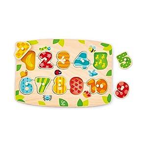 Hape International- Puzle Encajable Números, Multicolor (E1404)