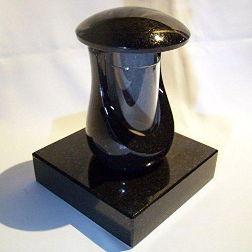 Grablampe Aluminium Granit Schwedisch Grablaterne Grableuchte Friedhofslaterne