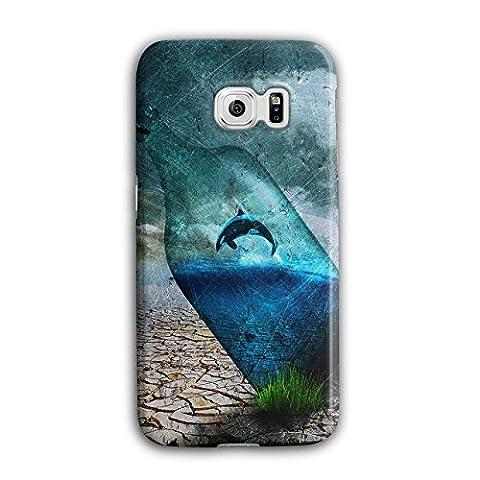 Orca Bottle Nature Water Fish 3D Samsung Galaxy S6 Edge Case   Wellcoda