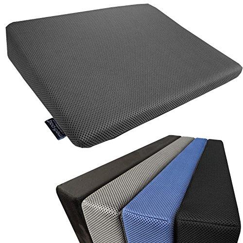 Medipaq - cuscino a cuneo in memory foam per supporto schiena e rialzo altezza - rivestimento lavabile con cerniera