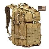 WLDOCA 35L Militärlicher taktischer Rucksack, Armee-Rucksack für Camping Wandern und Trekking,Yellow
