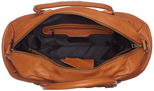 CTM Borsa da Donna Grande, Stile Bauletto, 47x29x21cm, Vera pelle 100% Made in Italy Cuoio
