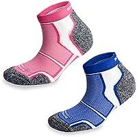 More Mile - Calcetines de deporte - para hombre negro azul/rosa Medium