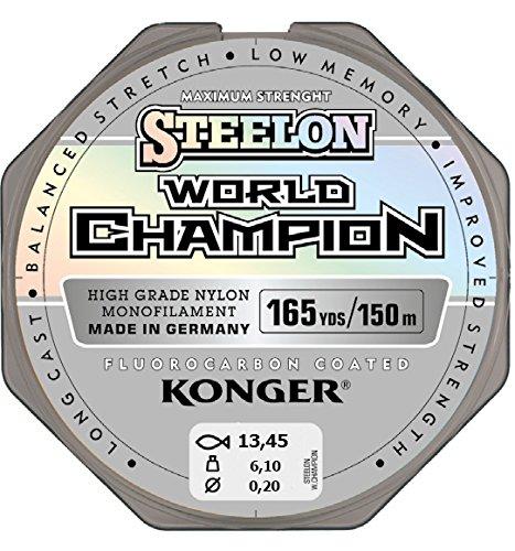 Konger Angelschnur World Champion Fluorocarbon Coated 0,10-0,30mm/150m Monofile Schnur super stark ! (0,20mm / 6,10kg)