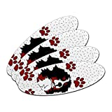 Bernese Mountain Dog of Impressiveness Oval Nail File Emery Board 4 Pack