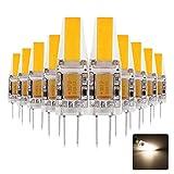 ONLT 10X G4 3W COB LED Leuchtmittel, AC / DC12-24V 4000K 300LM LED Bi-Pin-Lampe, 25W Halogenlampen Ersatz, nicht-dimmbar, 360 Grad Abstrahlwinkel, LED Birnen,Led Lampe,Crystal Spotlight Bulb (Natürliches Weiß)