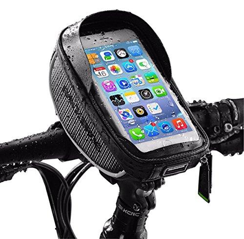 Rahmentaschen Tomwell 6 Zoll Fahrrad Lenkertasche Fahrradtasche Rahmentasche Wasserdicht Fahrrad Handyhalterung Fahrrad Oberrohrtasche und Handytasche mit Kopfhörerloch für Alle Fahrradtypen Geeignet (Tool Satteltasche Kit)