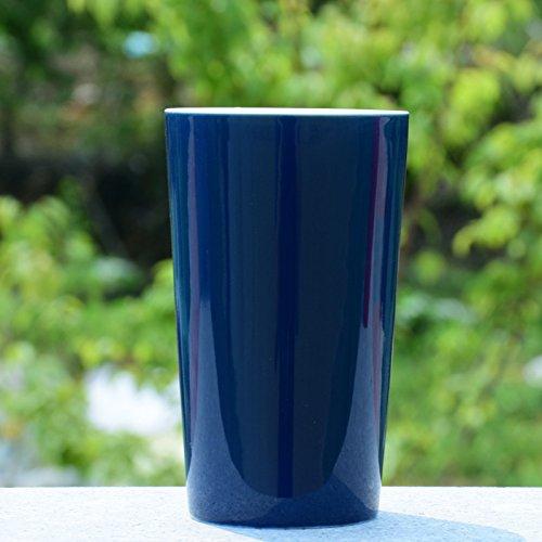 PEIWENIN-Badezimmer einfaches Normallack Spülen Tasse Keramik Pinsel Tassen kreative Paar Zahnbürste Tassen waschen Tassen Hochzeit Geschenke Freunde Geschenke, Navy blau (Navy Keramik)