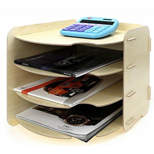 Tisch Organizer, Vicoki 4 Fächer A4 Briefablage Büro Schreibtisch Organizer Briefkorb Office Desktop Organizer Caddy Aufbewahrung, 26×31×27cm