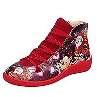 YIHANK Autumn and Winter Ladies Fashion Christmas Shoes Women