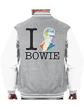 I Heart David Bowie Rainbow Men's Varsity Jacket