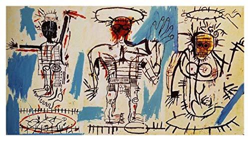 JH Lacrocon Baby Boom 1982 von Jean-Michel Basquiat - 120X70 cm Graffiti-Kunst Leinwand Gemälde Handgemalt Reproduktionen Gerollte Wandkunst für Wohnzimmer - Jean Michel Kunst Basquiat