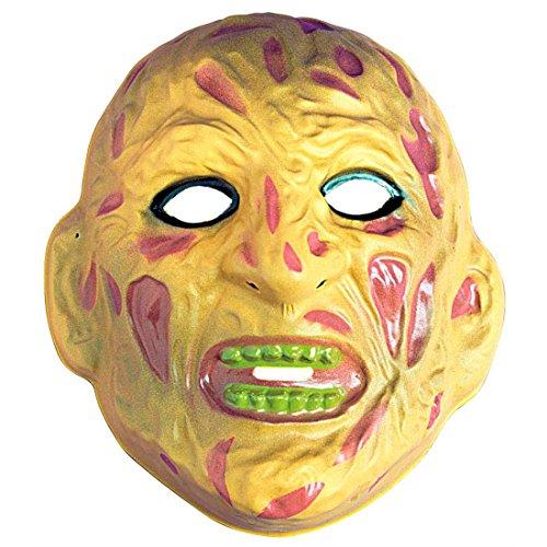 Freddy Krüger Monster Maske mit Fleischwunden Zombie Horrormaske Hartplastik Untoter Halloweenmaske Monstermaske Bestie Gruselmaske Faschingsmaske (Freddy Krueger Zähne)