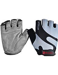 Anser 216000guantes de equitación guantes de ciclismo transpirable guantes de ciclismo Guantes de ciclismo Guantes de deporte para niños o mujeres, color gris, tamaño XL