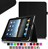 Fintie iPad 1 Folio Case - Slim Fit Vegan Leather Stand Cover with Stylus Holder for Apple iPad 1 1st Generation - Black