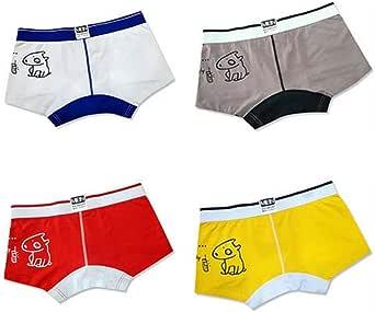 HaiDean 4 Pcs Men Men Casual Modern Boxes Boxer Cotton Cartoon Under Warming Sheer Breathable U Convex Trunks Underpants
